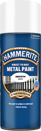 Hammerite Slätlack Vit spray 400ml