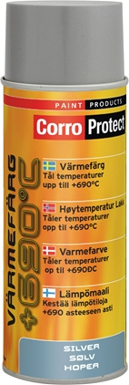 CorroProtect Värmefärg Silver spray 400ml
