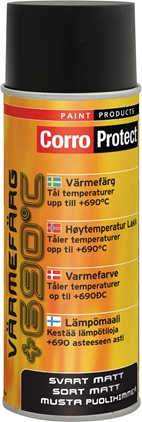 CorroProtect Värmefärg Svart spray 400ml