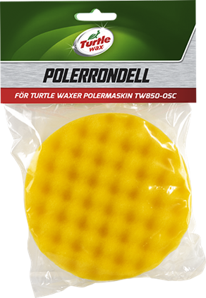 Turtle Wax Polérrondell Våff.Gul 25x130mm (1-Pack)